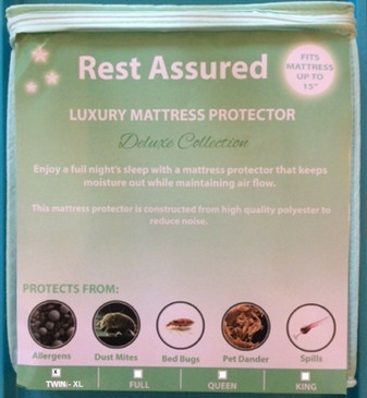 TWIN - XL Mattress Protector Deluxe Soft Smooth Waterproof Hypoallergenic Cover