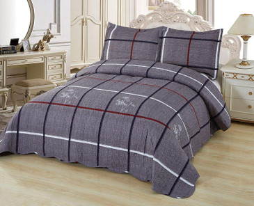 Copy of Orly's Dream 3 Pcs Super Soft Queen Size Printed Pre-Washed Quilt Set, Microfiber Fabric Quilted Bedspread Coverlet Bedding Set (Mackenna)