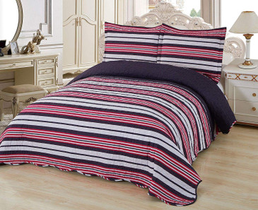 Orly's Dream 3 Pcs Super Soft Queen Size Printed Pre-Washed Quilt Set, Microfiber Fabric Quilted Bedspread Coverlet Bedding Set (Whitney)