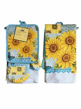 3 PCS KITCHEN SET 1 PRINTED TOWEL, 1 POT HOLDER, 1 OVEN MITT / GLOVE (# 03)