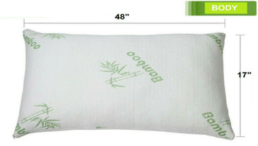Body Size Original Bamboo Memory Foam Bed Pillow Hypoallergenic with a Carry Bag