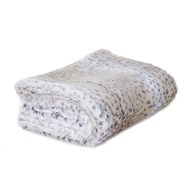 "Orly's Dream Luxury Faux Fur Throw 60"" x 70"" (Snow Leopard)"