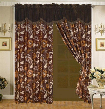 Orly's Dream Bridget Microfiber Curtain Set w/Valance/Sheer/Tassels