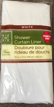 "Orly's Dream Light Weight Shower Curtain Liner with Magnets  70""x 72"" - White"
