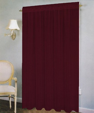 "Orly's Dream The Paris Breeze Collection Voile/Sheer Window Curtain Panel (58""x 90"") Burgundy"