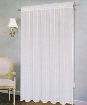 "Orly's Dream The Paris Breeze Collection Voile/Sheer Window Curtain Panel (58""x 90"") White"