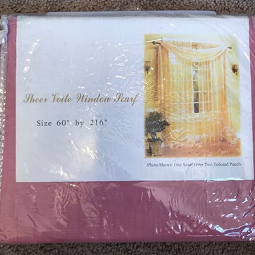 "Orly's Dream Beautiful and Elegance Window Sheer Voile Scarf 60"" X 216"" Rose Pink"