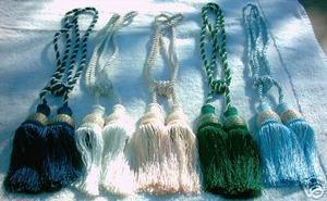 2 (TWO) X Handmade Italian drapery tassel\tieback victorian - Navy Blue