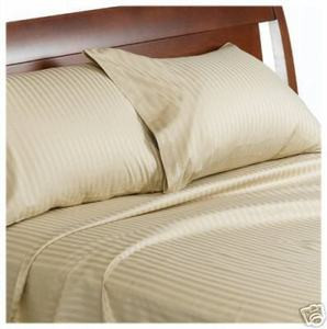 "400TC Satin KING Sheet Set 100% Cotton 15""Deep OFFWHITE"