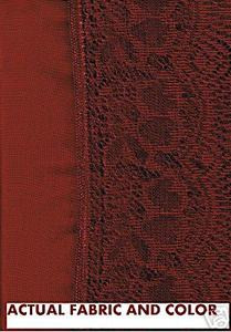 Maroon D.Red Voile Curtain +attached Silk Satin Valance