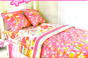 BRAND NEW BARBIE TWIN COMFORTER + SHEET set 3pc BEDDING