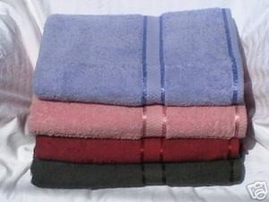 4 pc 100% COTTON SOLID BATH TOWELS SET new patent towel