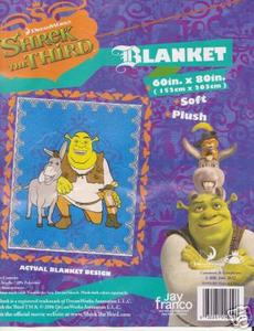TWIN SHREK The Third MINK PLUSH BLANKET throw bedspread