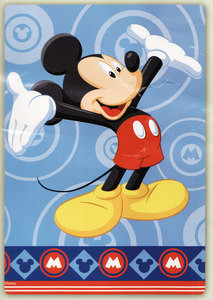 Disney Mickey Mouse MINK PLUSH BLANKET throw bedspread