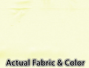 Voile Silk Satin Curtain With Attached Valance & Liner - Offwhite