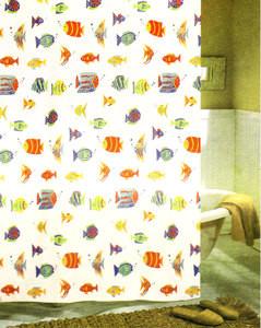 Fabric Shower Curtain + 12 Hooks (rings) - BRAND NEW!!! 430