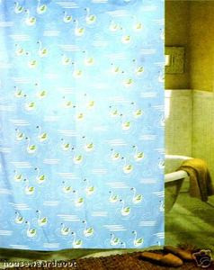 Fabric Shower Curtain + 12 Hooks (rings) - BRAND NEW!!!