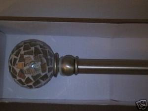"Curtain , Drape METAL EXTENDABLE ROD Bronze 26"" to 48"""