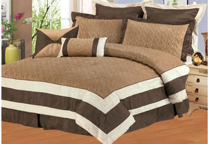 KING Size Bed in a Bag 8 pc. Comforter / Bedding Set / Bed Ensemble - BROWN