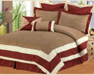KING Size Bed in a Bag 8 pc. Comforter / Bedding Set / Bed Ensemble - BURGUNDY