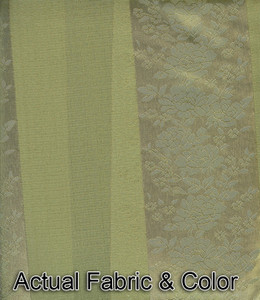 Window Rings Curtains / Drapes Set w/ TieBacks - Green