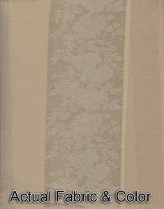 Window Rings Curtains / Drapes Set w/ TieBacks - Beige