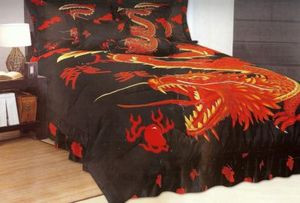 "King ""Dragon"" Bed in a Bag 7 pc. Comforter Bedding Set"