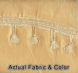 Window Curtains / Drapes with Valance & Liner - Gold