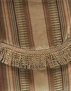 Window Curtain / Drape w/ attached Valance & Liner GOLD