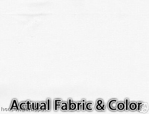 Voile Silk Satin Curtain With Attached Valance - White