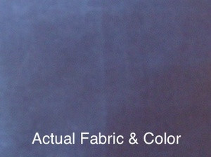 Voile Silk Satin Curtain With Attached Valance - N.Blue