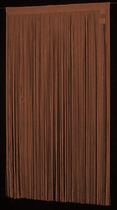 "String / Thread Stripe Corridor Curtain Brown 40"" x 99"""