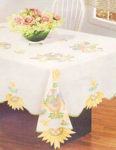 "NEW - ROOSTER & SUNFLOWER Table Cloth 60""x108"" OB"