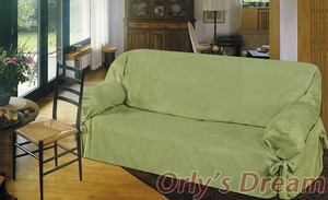 Sofa Loveseat Chair Slipcover slip cover 3pc Set - Sage