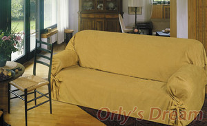 Sofa Loveseat Chair Slipcover slip cover 3pc Set - Gold 130