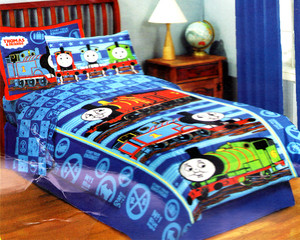 Twin Thomas and Friends Comforter Set 5pc w/ Curtains   Orly's Dream