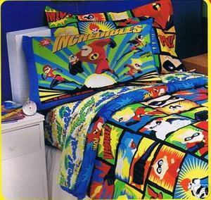 Twin Disney / Pixar The Incredibles Comforter Set 3 pc.
