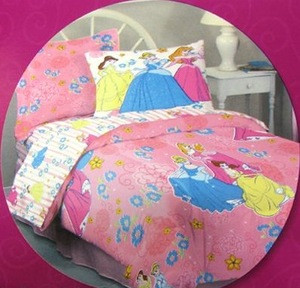 NEW Twin Disney Princess Comforter Set 3 pc 100% Cotton