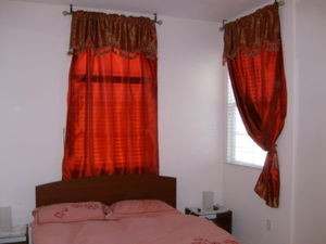 Brand New Window Curtain / Drape Set + Valance + Liner - Burgundy