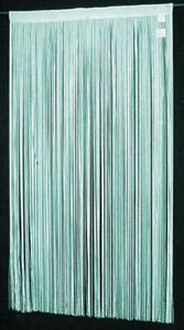 "String Thread Stripe Corridor Curtain Turquoise 40""x99"""