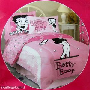 BRAND NEW Twin Betty Boop Comforter / Duvet 3pc - Pink