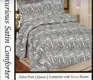 "QUEEN Bed in a Bag 3pc. Comforter Bedding Set - ""Zebra"""