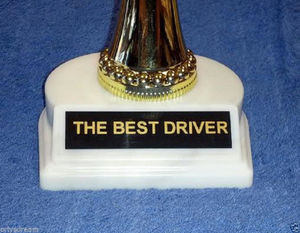 "#1 "" THE BEST DRIVER "" TROPHY - Orly's New Trophies Collection - RACE CAR"