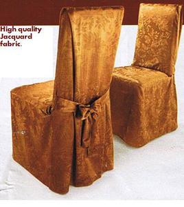 NEW - 6 Pc. Dining Room CHAIR SLIPCOVER FIT set - Brown