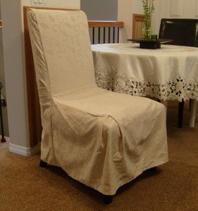 1 Pc Dining Room CHAIR Furniture SLIPCOVER FIT OffWhite