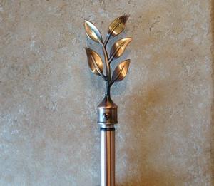 Curtain Drape Drapery EXTENDABLE ROD pole 60-120 Copper