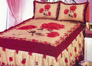 QUEEN 3 pc. FRENCH QUILT Bedspread BEDDING/Bed in a Bag 057