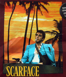 Queen ScarFace, Tony Montana Mink Plush Raschel Blanket