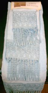 3 pc Bath Towels Ensemble - Bath + Hand + Wash Towels