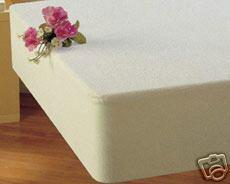 Baby Crib / Mini Crib Mattress Protector Terry Toweling & PVC Vinyl - White